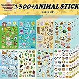 Aufkleber Kinder,Tieraufkleber, Aufkleber für Kinder-Sortiment 1300 PCS, 8 Themen für Kinder,...