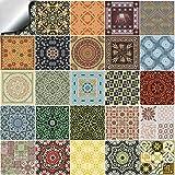 Tile Style Decals 24 stück Fliesenaufkleber für Küche und Bad 24x NTP 06-6' | Verschiedene Mosaik...
