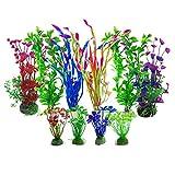 Aisamco künstliche Wasserpflanzen, 10 Stück Aquarium Pflanzen künstliche Aquarium Dekorationen,...