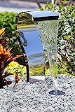 Köhko Wasserfall Schwan aus Edelstahl 23005 Wasserspiel mit LED-Beleuchtung
