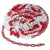 Absperrkette Rot Weiss Kunststoffkette Kette, Absperrkette Kunststoffkette Gliederkette 6MM...