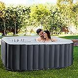 Miweba MSpa aufblasbarer Whirlpool Outdoor - 6 Personen – 132 Düsen - 185x185 cm – Tüv GS...