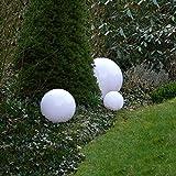 Dapo Kugelleuchte Gartenlampe Hochwertige Auenleuchte Marlon 3er Set (20+30+40cm) Gartenleuchte...