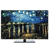 Fernseher Hülle Monitorabdeckungen Mikrofaser Waschbar Universal Displayschutzfolie für 24-80 Zoll...