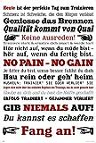 empireposter Motivational - Gym Training - Keine Ausreden! Weiß - Motivations Poster Plakat Druck -...