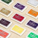Kesote Stempelkissen Set, 15 Farben Stempelfarbe Stempel Tinte für Kinder Papier Handwerk Stoff...