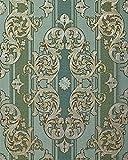 Barock-Tapete EDEM 580-35 Hochwertige geprgte Tapete in Textiloptik und Metallic Effekt kiefern-grn...