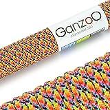 Paracord 550 Seil mehrfarbig   bunt   31 Meter Nylon-Seil mit 7 Kern-Stränge   für Armband  ...
