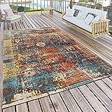 Paco Home In- & Outdoor Teppich Modern Nomaden Design Terrassen Teppich Bunt, Grösse:120x170 cm