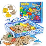 Magicfun Play Sand Set, Knetsand Playset Moulding mit Meereslebewesen Formen, Formbarer 500g...