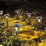 Solarleuchten Garten LED Warmweiß Solar Gartenleuchte für Außen Wasserdicht Solar Wegeleuchte...