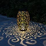 Solarlaterne für außen, Tomshine Dekorative Solarlampe Garten Laterne, IP44 Wasserdicht LED Solar...