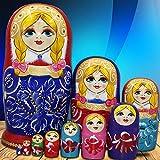 YangGQ Russische Nistpuppen Matroschka-Puppen Geschenkpuppe Aus Holzpuppe 10-teilige Russische...