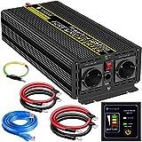 3000W KFZ Reiner Sinus Spannungswandler - Auto Wechselrichter 24V auf 230V Umwandler - Inverter...