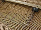 JalousieCrew Bambusrollo Bambus Raffrollo Natur Breite 60-160 cm Länge 160 cm Seitenzug Fenster...