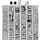 Tian Zeichenschablonen Set mit Exquisit Segeltuch Tasche - 24 Stück Schablonenmalerei Stencil Set...