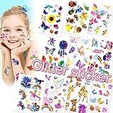 Sunshine smile Tattoo Kinder,Glitzer Temporäre Tattoos Für Kinder,Cartoon Schmetterling...