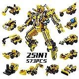 SYOSIN Roboter STEM konstruktionsspielzeug 573 Stück Ingenieurwesen Bausteine Spielzeug...
