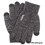 Xiaobing Männer und Frauen Touchscreen-Strickhandschuhe Dicke Wollhandschuhe warme Paarhandschuhe...