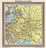 Eisenbahnkarte von Russland 1898: Restaurierter Reprint der Originalkarte als Poster auf...