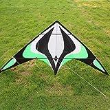 ALACA Mach Lenkdrachen, Dual Line Lenkdrachen Easy Flyer Kite mit 2 Kite Linie Griff (1,8 m).