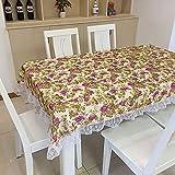 CFWL Spitzenstoff Tischdecke staubdicht Tischdecke lila 130 * 130cm tischdecke abwaschbar grau beige...