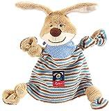 sigikid Mädchen und Jungen, Schnuffeltuch Hase, Semmel Bunny, Baby-Kuscheltuch Beige/Blau, 47893