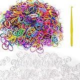 Hileyu Loom Bänder Set Kinder, DIY Gummiband für Armbänder, Loom Set Inklusive 600 Stück Loom...