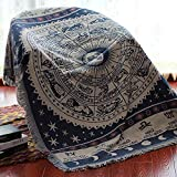 N/A MYBH Home Decke Nordic Style American Full Cover rutschfeste Baumwollfaden Sofa Handtuch Vier...