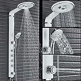 ZGQA-GQA Weiß Bad mit Dusche Wasserhahn Set, Badezimmer mit Dusche Wasserhahn, Wandmischer,...