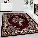 Teppich Orientteppich Klassische Optik Orientalisch Traditional Medaillion Rot, Maße:120 cm x 170...