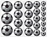 Samunshi 23-Teiliges Fussball Wandtattoo Set Wandaufkleber Kinderzimmer Babyzimmer in 5 Größen...