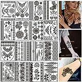 Kapmore Temporäre Tattoos Fake Aufkleber 16PCS Tattoo Sticker Temporäre gefälschte Tattoo Body...