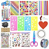 Scrapbook Zubehör Kit, Fotoalbum Zubehör, Scrapbooking Sticker Zubehör Set Schablonen für Kinder...