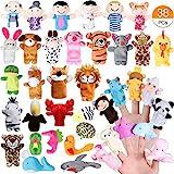 Joinfun 38 Stück Fingerpuppen Party Mitgebsel Cartoon Tier Hand Spielzeug Menschen...