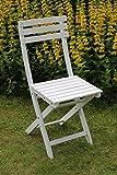 SEDEX Bistro 2er Set Klappstuhl für Garten, Terrasse und Balkon FSC® 100% Eukalyptusholz - weiß...