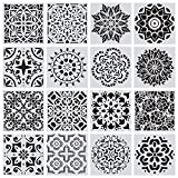 Mandala Schablonen-Set, 16 Stück Mandala Dotting Schablone Zeichenschablonen Muster Kunstwerkzeuge,...