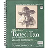 Strathmore 400Series Skizzenbuch, getönt, hellbraun, 22,9x 30,5cm, drahtgebunden, 50Blatt