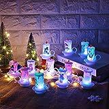 Prevently 12 Stck Weihnachtskerze Kerze Tasse LED Teelichter, LED Kerzen Flammenlose Kerze...
