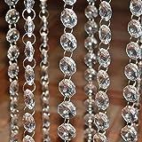 lzn 10 x 1m Perlenvorhang,Kristall Kette Türvorhang Fadengardine Pailettenvorhang Fadenvorhang...