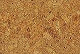 1 m Korkfuboden zum kleben, Korkboden Struktur grob, Klebekork vorversiegelt und vorgeleimt,...
