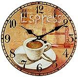 PD Perla Design, orologio da parete in vetro, movimento al quarzo, design vintage, circa 30 cm di...