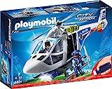 PLAYMOBIL City Action 6874 Polizei-Helikopter mit LED-Suchscheinwerfer, Ab 4 Jahren