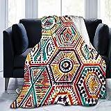 N/A Patchwork-Decke, Flanell, Fleece, 127 x 152 cm, dekorativ, leicht, weich und warm