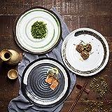 HVTKL Im japanischen Stil tellerförmigen Keramikplatte Retro personalisierte Home-Plate Restaurant...