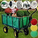 Jago Bollerwagen - bis 550 kg belastbar, Farbwahl, klappbare Seitenwände, herausnehmbare Plane,...