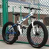 WJH Variable Speed Folding Mountainbike Studentensport Fahrradstoßdämpfung 20 Zoll 24 Zoll...