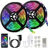 Bonve Pet LED Strip 10m, RGB LED Streifen Wasserdicht, Farbwechsel LED Lichterkette mit...
