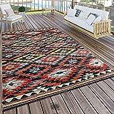 Paco Home In- & Outdoor Teppich Modern Zickzack Muster Terrassen Teppich Wetterfest Bunt,...
