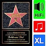 bentino Geburtstagskarte XL mit Musik, DIN A4 Set mit Umschlag, hochwertige Grußkarte spielt'Simply...
